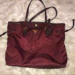 Genuine maroon Prada purse